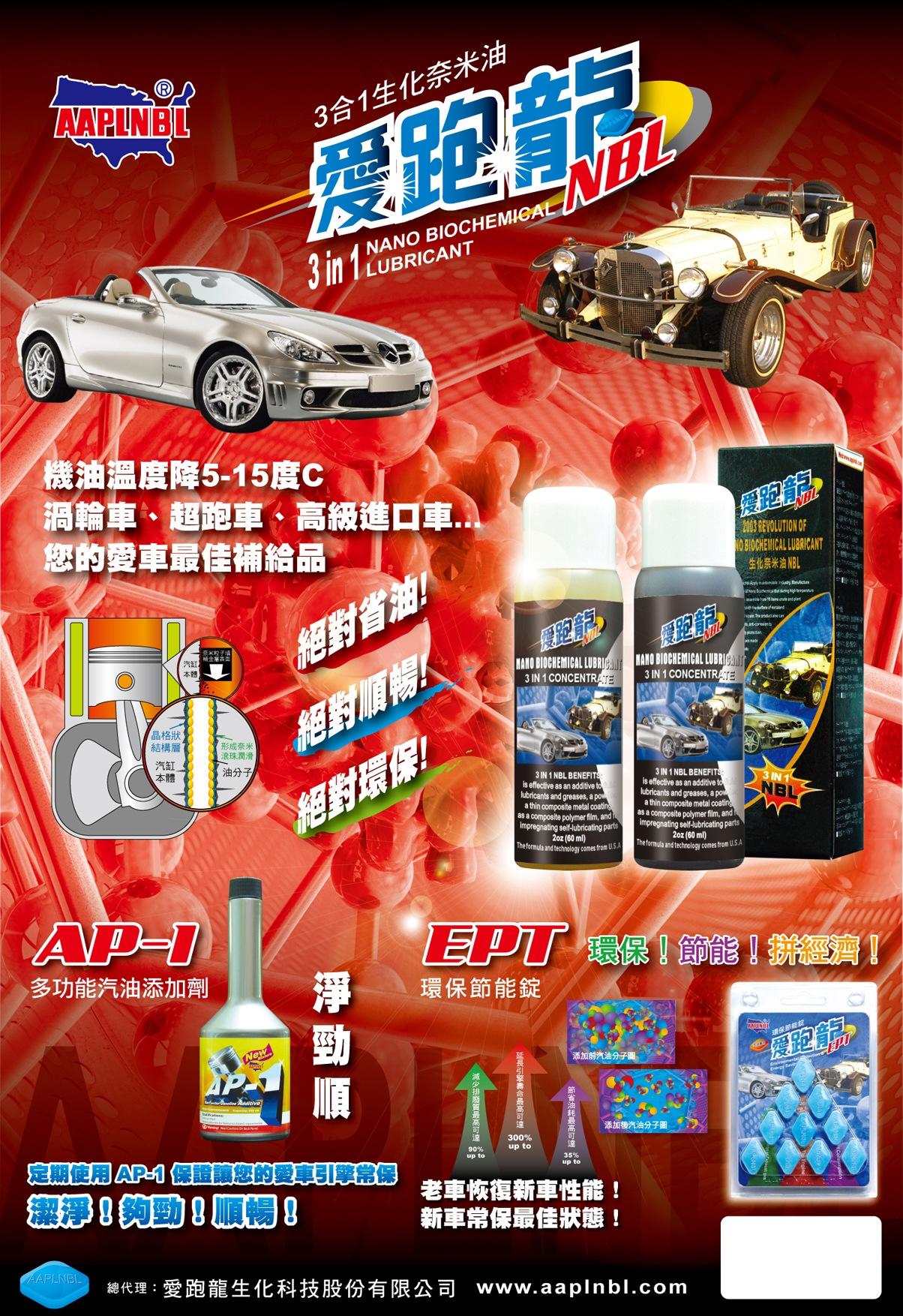 愛跑龍最具張力的添加劑汽油車綜合產品海報